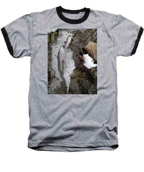 Ice Flow Baseball T-Shirt by Robert Nickologianis