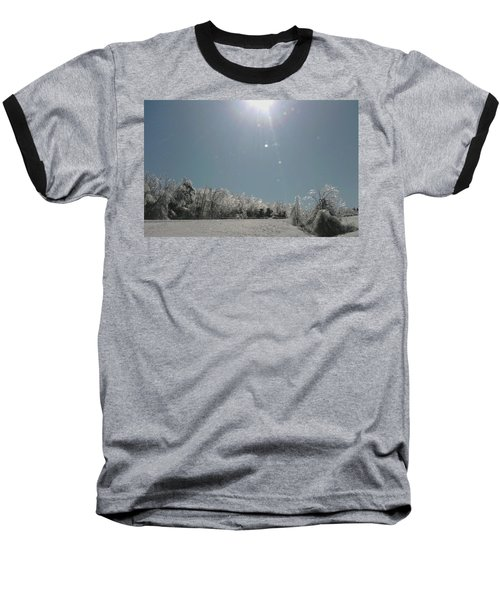 Baseball T-Shirt featuring the photograph Ice Kissed by Ellen Levinson