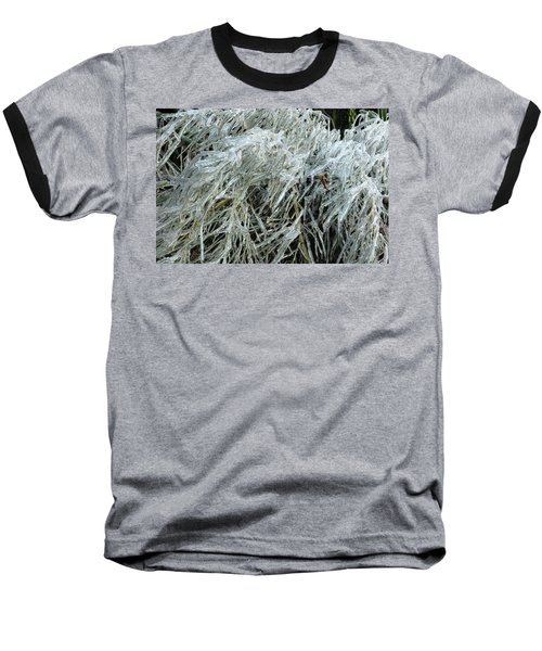 Ice On Bamboo Leaves Baseball T-Shirt