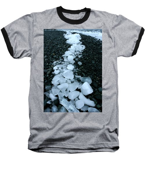 Baseball T-Shirt featuring the photograph Ice Pebbles by Amanda Stadther
