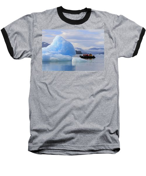 Iceberg Ahead Baseball T-Shirt by Shoal Hollingsworth