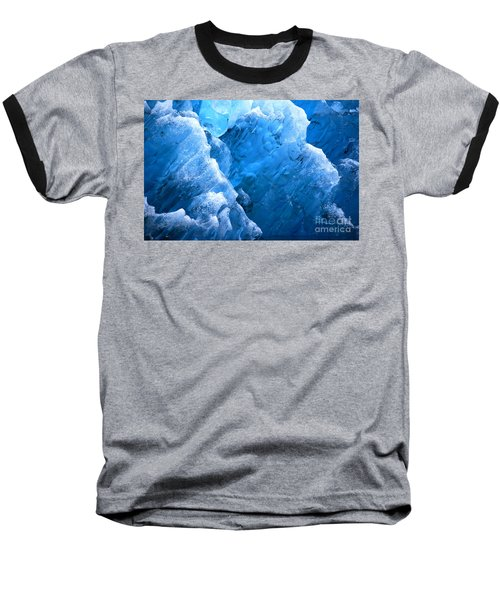 Iceberg Blues Baseball T-Shirt by Cynthia Lagoudakis