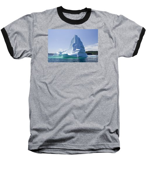 Baseball T-Shirt featuring the photograph Iceberg Canada by Liz Leyden