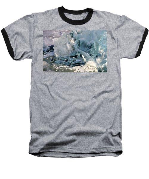 Iceberg Detail Baseball T-Shirt by Cathy Mahnke