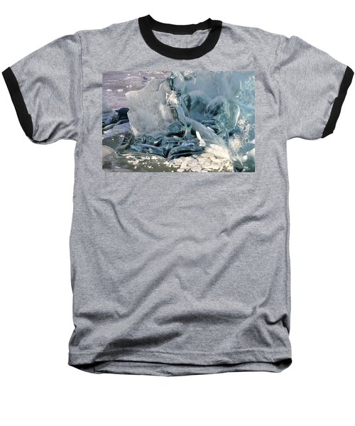 Iceberg Detail - Mendenhall Lake Baseball T-Shirt