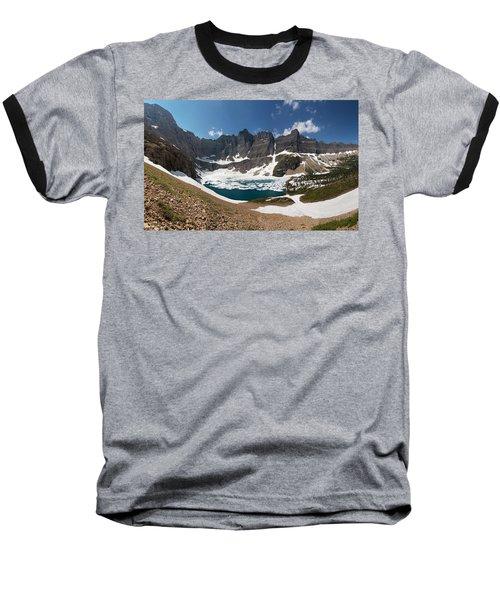 Iceberg Lake Baseball T-Shirt by Aaron Aldrich