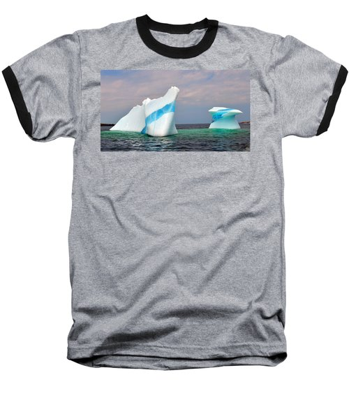 Iceberg Off The Coast Of Newfoundland Baseball T-Shirt by Lisa Phillips