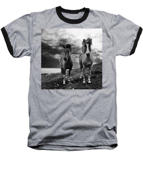 Icelandic Horses Baseball T-Shirt by Frodi Brinks