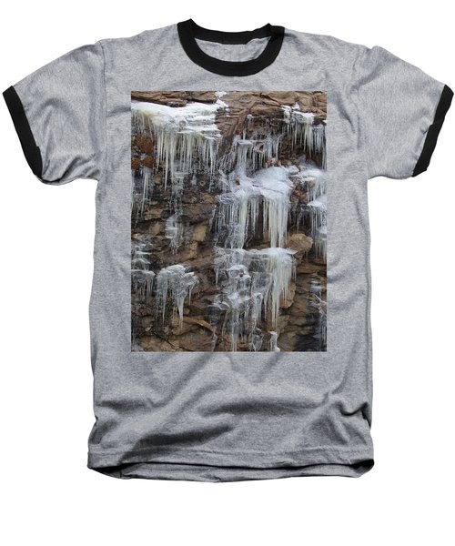 Icicle Cliffs Baseball T-Shirt