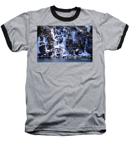 Baseball T-Shirt featuring the photograph Icicle House by Barbara Griffin