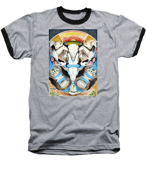Baseball T-Shirt featuring the painting Icons Of The Panhandle by Joan Hartenstein