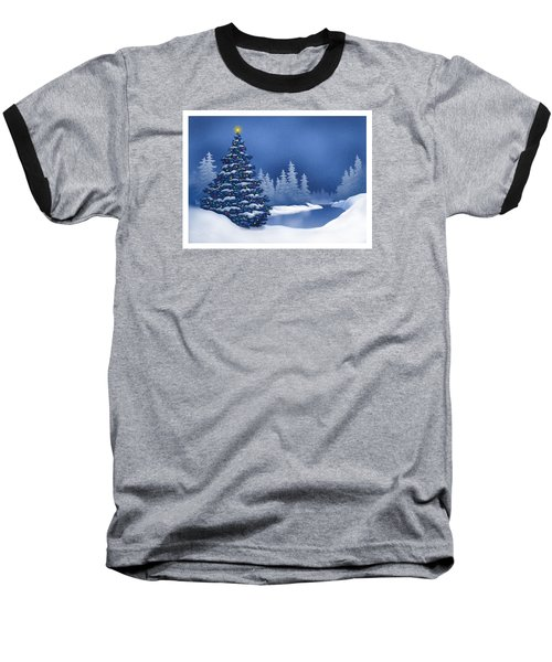 Icy Blue Baseball T-Shirt by Scott Ross