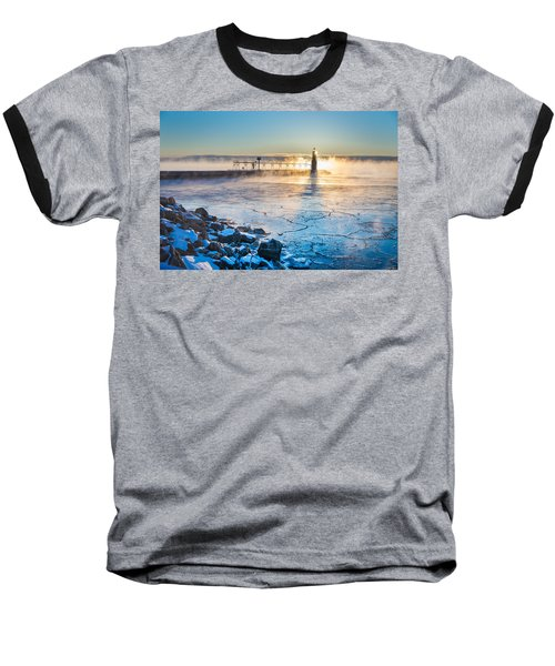 Icy Morning Mist Baseball T-Shirt