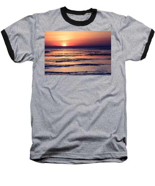 Icy Sunrise Baseball T-Shirt