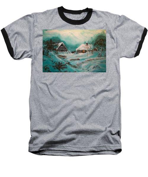 Icy Twilight Baseball T-Shirt