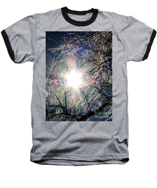 Icy Web Baseball T-Shirt