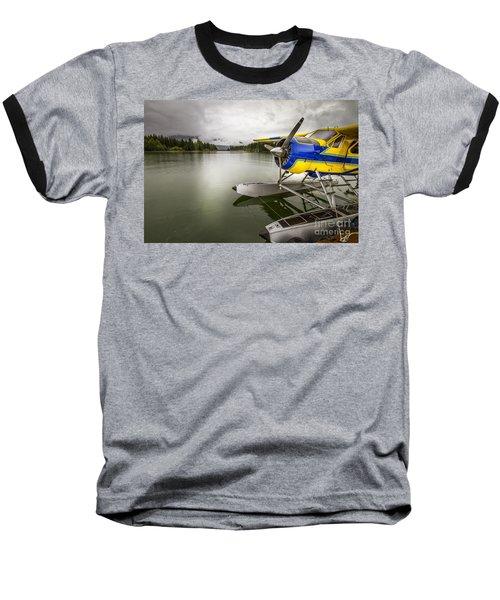Idle Float Plane At Juneau Airport Baseball T-Shirt by Darcy Michaelchuk