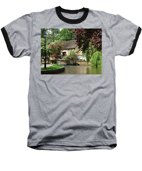 Idyllic Village Scene Baseball T-Shirt