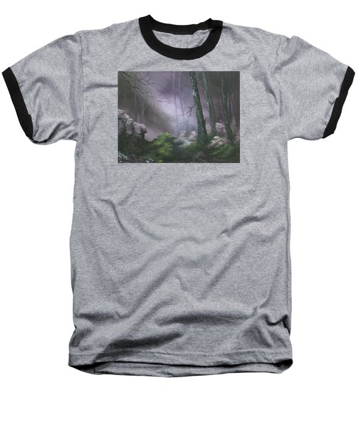 If You Go Down In The Woods Today ? Baseball T-Shirt by Jean Walker