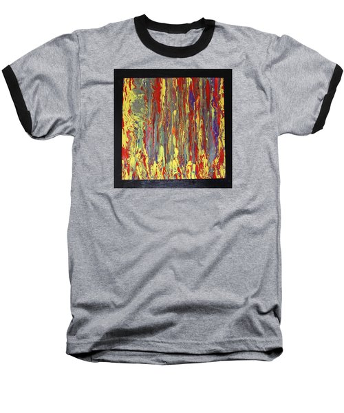Baseball T-Shirt featuring the painting If...then by Michael Cross