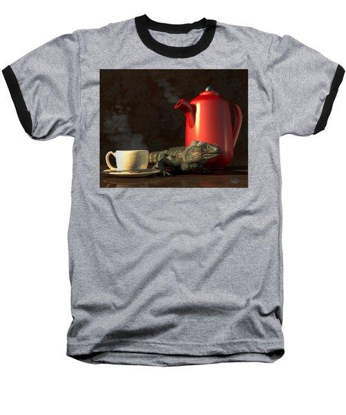 Iguana Coffee Baseball T-Shirt
