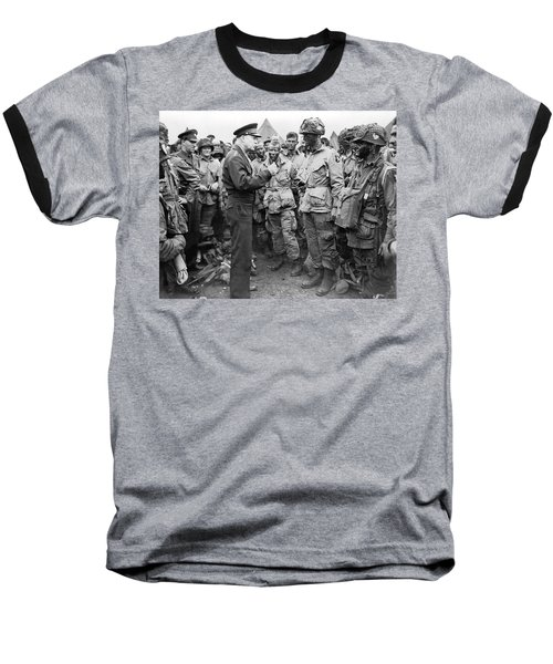 Ike With D-day Paratroopers Baseball T-Shirt