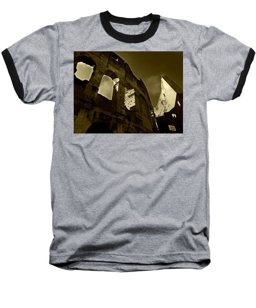 Baseball T-Shirt featuring the photograph Il Colosseo by Micki Findlay