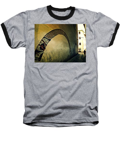 Baseball T-Shirt featuring the photograph Il Muro  by Micki Findlay