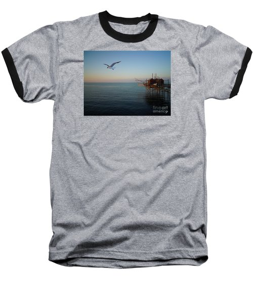 Il Trabucco - The Trebuchet Fishing Baseball T-Shirt