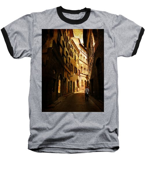 Baseball T-Shirt featuring the photograph Il Turista by Micki Findlay