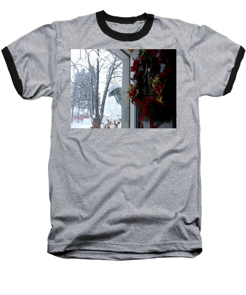 Baseball T-Shirt featuring the photograph I'll Be Home For Christmas by Shana Rowe Jackson