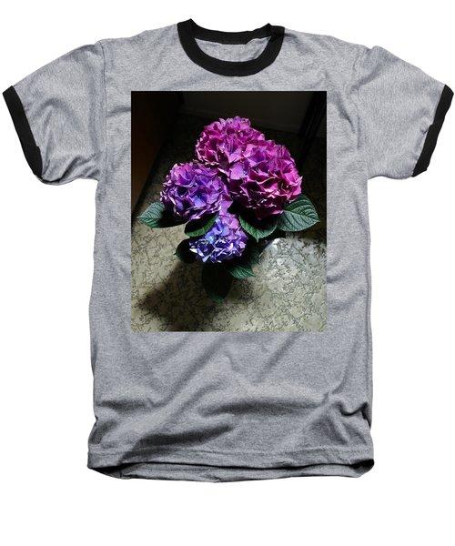 Illuminated Hydrangea Baseball T-Shirt