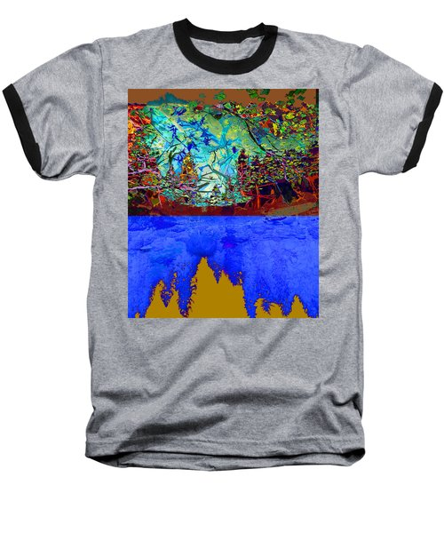 Illusion Of Lake And Forest Baseball T-Shirt