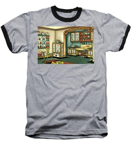 Illustration Of A Colorful Swedish Kitchen Baseball T-Shirt