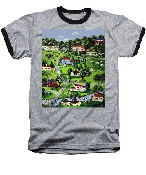 Illustration Of A Village Baseball T-Shirt