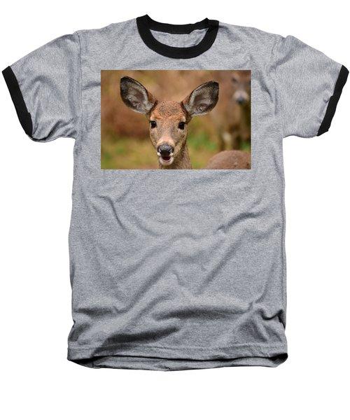 I'm Never Alone Baseball T-Shirt by Lori Tambakis