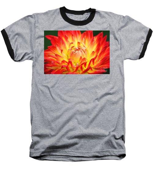 Img 0023 Flor En Rojo Detalle Baseball T-Shirt