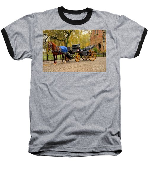 Immaculate Horse And Carriage Bruges Belgium Baseball T-Shirt