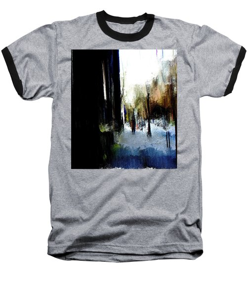Baseball T-Shirt featuring the mixed media Impending Gloom by Terence Morrissey