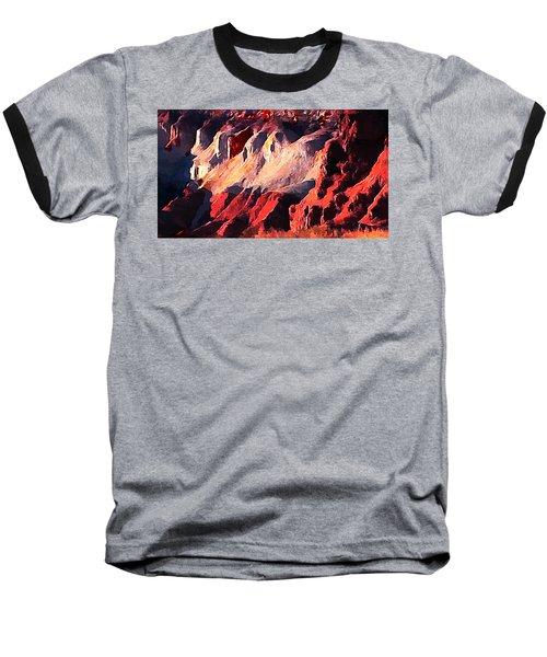 Impression Of Capitol Reef Utah At Sunset Baseball T-Shirt