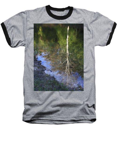 Impressionist Reflections Baseball T-Shirt by Patrice Zinck