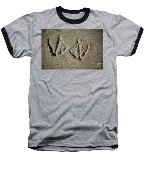 Baseball T-Shirt featuring the photograph Imprints by Christiane Hellner-OBrien
