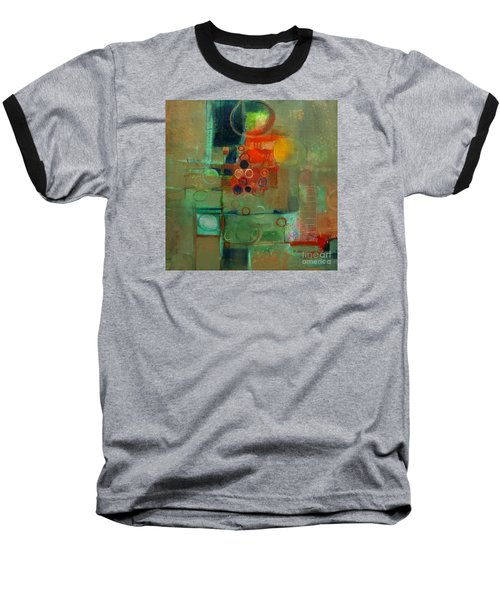 Baseball T-Shirt featuring the painting Improvisation by Michelle Abrams