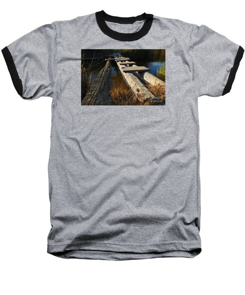 Improvised Wooden Bridge Baseball T-Shirt
