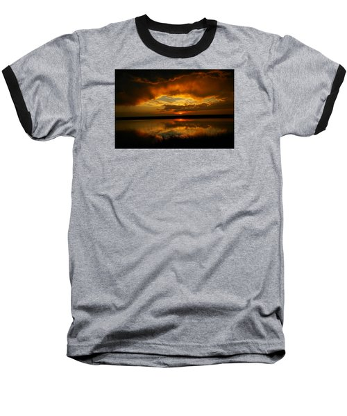 In All His Glory Baseball T-Shirt by Jeff Swan