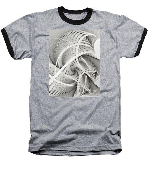 In Betweens-white Fractal Spiral Baseball T-Shirt