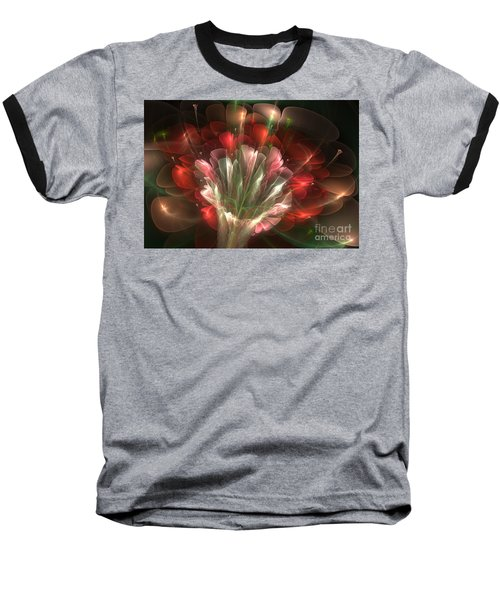 Baseball T-Shirt featuring the digital art In Bloom by Svetlana Nikolova