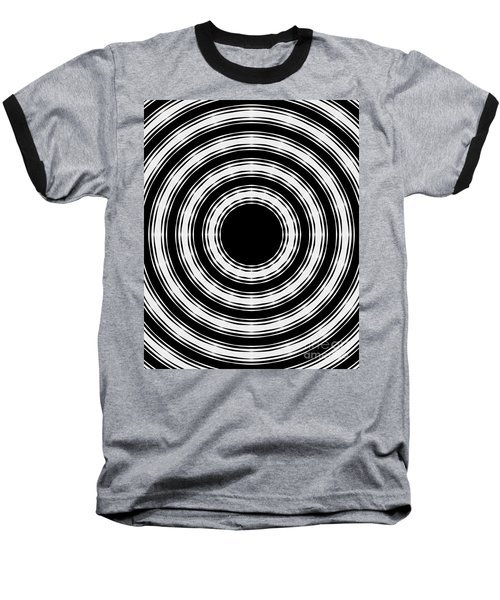 Baseball T-Shirt featuring the painting In Circles by Roz Abellera Art