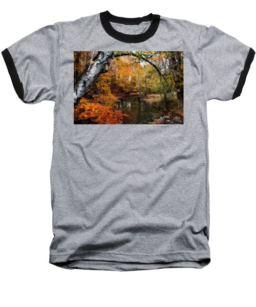 In Dreams Of Autumn Baseball T-Shirt by Kay Novy