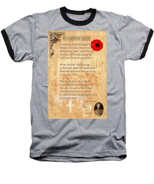 In Flanders Fields Baseball T-Shirt